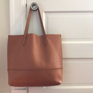 J Crew Downing Tote in English Saddle Cognac